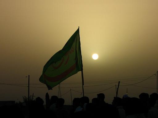 اردوی کاروان راهیان نور - طلوع خورشید در آسمان جنوب