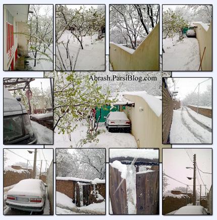 بارش برف در 11 امین روز بهار