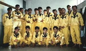 باشگاه ووشو سال 75 استاد رضائی افشار و هنرجویان