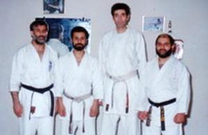 سمت راست استاد حاج زریو و چپ استاد عباس شیخعلی زاده