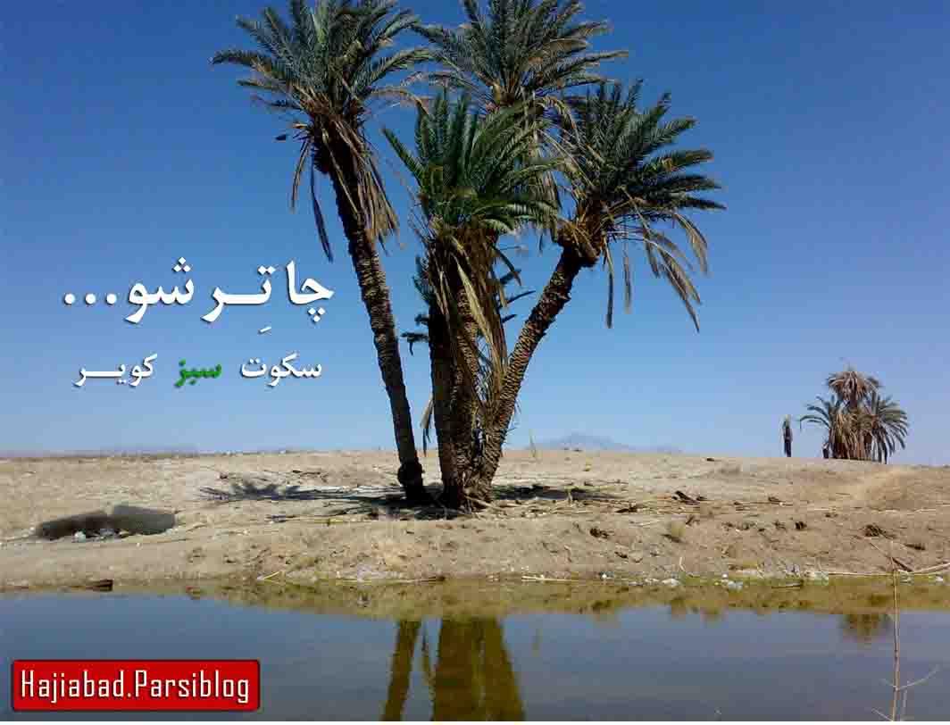 چاترشو...سکوت سبز کویر حاجی آباد زرین