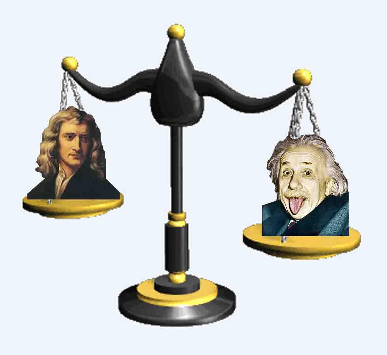 مقایسه جرم فیزیکدانان بزرگ