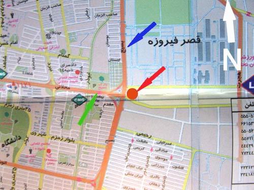 محل قرار تهران