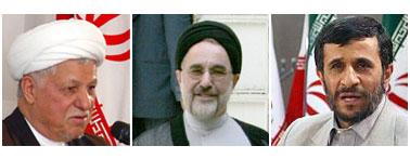 احمدی نژاد ، خاتمی ، هاشمی