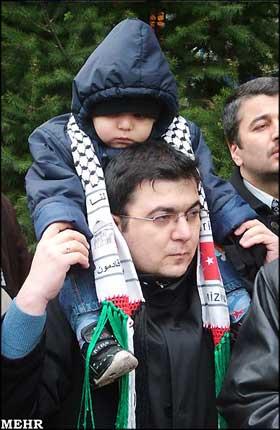 راهپیمایی مردم ترکیه علیه اقدامات وحشیانه اسرائیل 1387/10/10