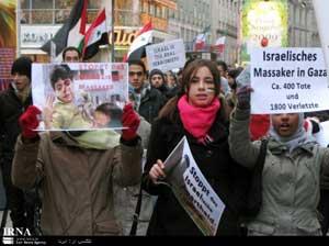 راهپیمایی هزاران نفر از مردم وین در حمایت از فلسطینیان مظلوم 1387/10/11