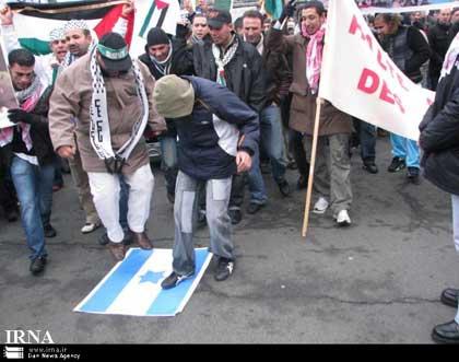 گزارش تصویری از تظاهرات ضد اسراییلی در پاریس 1387/10/12